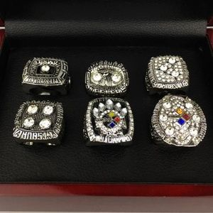Pittsburgh Steelers Silver Championship Ring Set